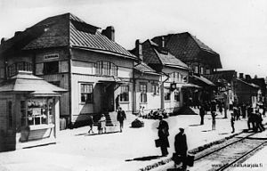 Elisenvaara - The old railway station, constructed around 1893, was destroyed in the Winter War.