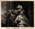Elkanah and Hannah discuss the weaning of Samuel. Mezzotint Wellcome V0034394.jpg