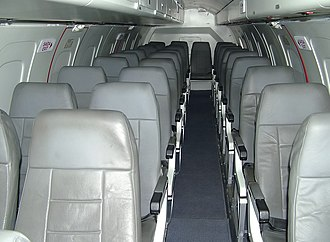 Embraer EMB 120 Brasilia - Three-abreast cabin