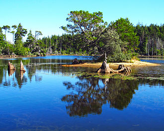 Coos Bay, Oregon - Empire Lakes is encompassed by John Topits Park in the northwestern section of Coos Bay.