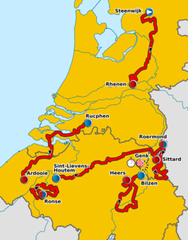 Routekaart   Eneco Tour 2010