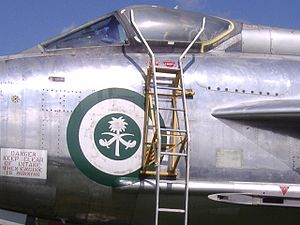 Military aircraft insignia - Royal Saudi Air Force roundel on an EE Lightning fighter