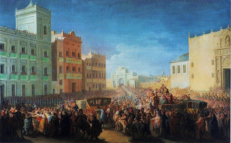 Entrada triomfal de Ferran VII a València, 1815, Miquel Parra