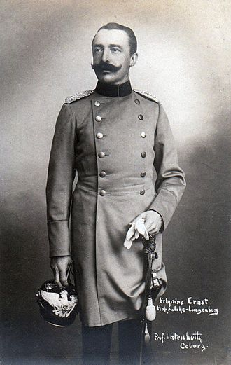 Ernst II, Prince of Hohenlohe-Langenburg - Ernst II, when Hereditary Prince