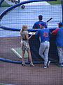 Erin Andrews, Cubs vs Brewers, July 30, 2008 6.jpg