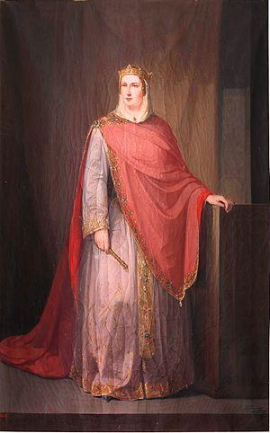 Ermesinda - Ermesinda of Asturias, by Francisco Joaquín Gutiérrez de la Vega. 1854. (Museo del Prado, Madrid).