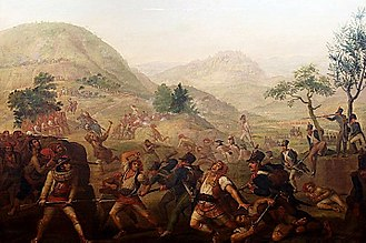 Peninsular War - Joseph-Bernard Flaugier's 1808 painting Escena de la Guerra de la Independencia depicts Imperial troops battling the Catalan militia
