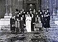 Esküvői fotó, 1946 Budapest, Assisi Szent Ferenc-templom. Fortepan 105128.jpg