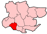 Brentwood shown within Essex