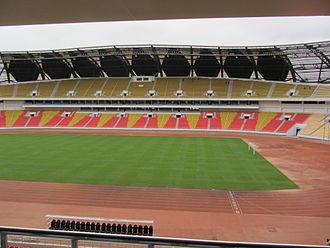 Estádio 11 de Novembro - Tribunes and track