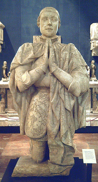 War of the Two Peters - Alabaster sculpture of Peter the Cruel, from 1504
