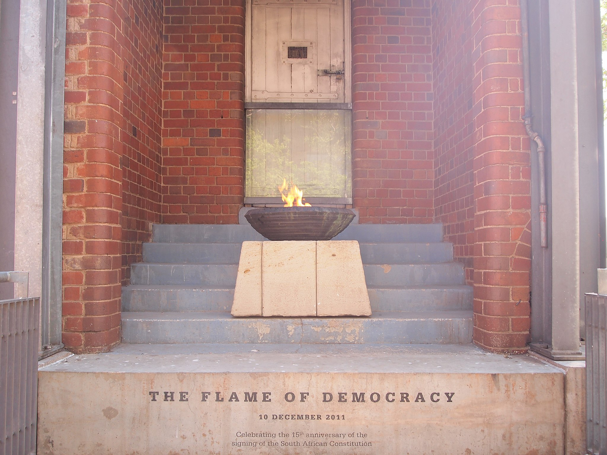Eternal Flame on Constitution Hill in Johannesburg