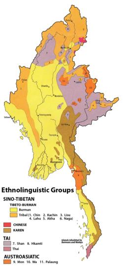 Ethnolinguistic map of Burma 1972.png