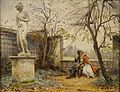 Eugène Deully - Amorous Couple in a Garden.jpg