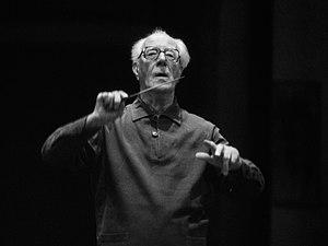 English: The German conductor Eugen Jochum Deu...