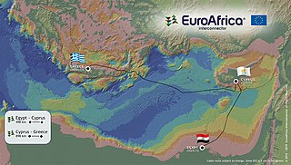 planned interconnector between Greek, Cypriot, and Egypt power grids via HVDC submarine power cable
