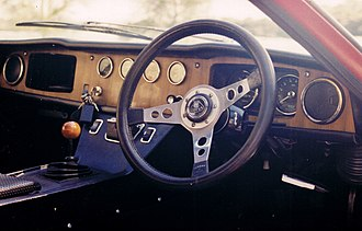 Lotus Europa - Lotus Europa S2 interior (1968 black-badge model).