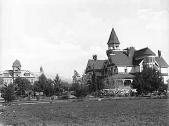 Pomona College - An exterior view of the college, 1907