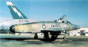 Base Lieutenant Étienne Mantoux - North American F-100D-40-NH Super Sabre Serial 55-2760 assigned to the 562d TFS/388th TFW, then to 7th TFS/49th TFW