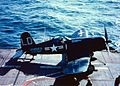 F4U-4 VMF-212 on cat of USS Badoeng Strait (CVE-116) 1952.jpeg