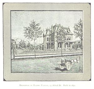 Elisha Taylor House - The Elisha Taylor House in a 1884 drawing by Silas Farmer