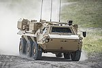 FUCHS reconnaissance vehicle being put through its paces by Falcon Squadron Royal Tank Regiment MOD 45160054.jpg