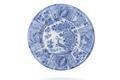 Fajansfat från 1600-talet med blå underglasyrmålning - Skoklosters slott - 93595.tif