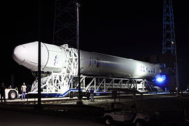 Falcon 9 Flight 3 rolls out to pad 05-17-2012.jpg