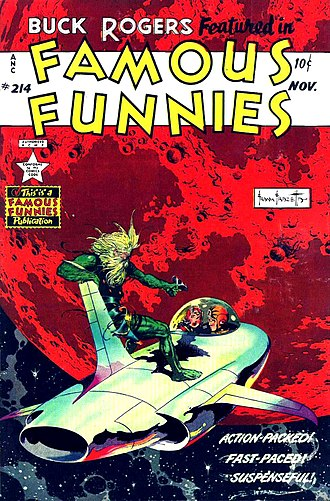 Frank Frazetta - Buck Rogers cover for Famous Funnies number 214 (December 1953).