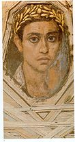 The Fayum mummy portraits epitomize the meeting of Egyptian and Roman cultures.
