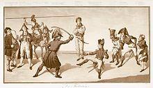 Karikatur Fechtstunde (1814) (Quelle: Wikimedia)