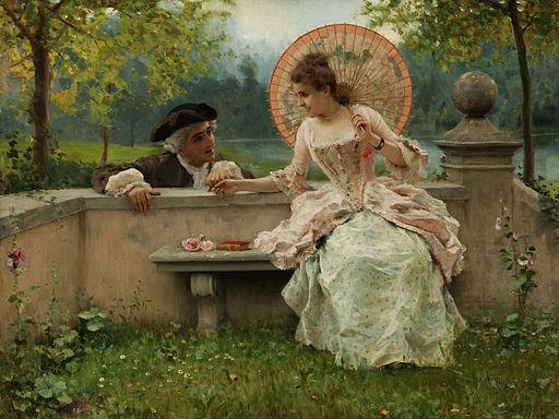 Federico Andreotti Ein verliebtes Gespräch im Park