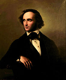 Portrait of Mendelssohn by Wilhelm Hensel, 1847 (Source: Wikimedia)
