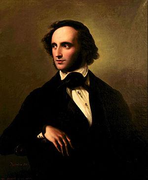 Wilhelm Hensel - Portrait of Felix Mendelssohn (1847)