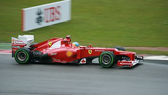 2012 British Grand Prix - Fernando Alonso started the race in pole position and finished in second place after being overtaken by Mark Webber near the end of the race.