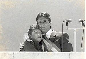 Rosane Collor - Image: Fernando Collor, e sua esposa Rosane, no parlatório do Palácio do Planalto