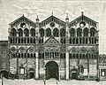 Ferrara facciata della Cattedrale xilografia.jpg