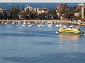 Ferry pulling into Manly Beach (2688378562).jpg