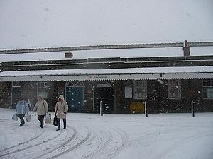 Filey railway station - Filey station (Winter 2005)