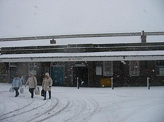 Filey railway station - Filey station (Winter 2005)