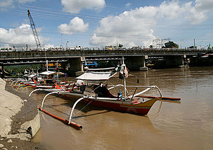 Davao River - Fishing boats on the Davao River