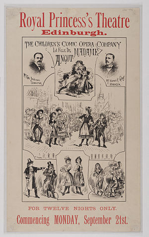 La fille de Madame Angot - Poster for Fille de Madame Angot performed at Royal Princess's Theatre in 1885.