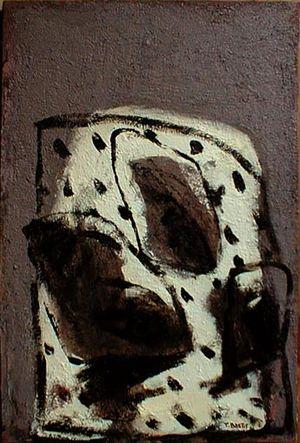 Fin de soirée, huile sur toile 2000