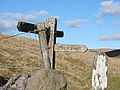 Finger Post on Horton Moor - geograph.org.uk - 497853.jpg