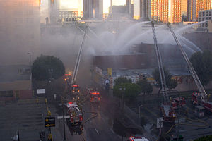 Los Angeles Fire Department - LAFD on the scene of a Major Emergency Structure Fire in 2007.