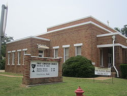 First Christian Church (Disciples of Christ) in Oakwood; pastor Doug Stevens (2011)