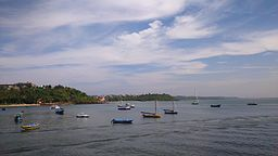 Fishing Boats anchored at Dona Paula , Goa.jpg