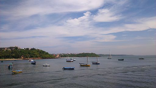 Fishing Boats anchored at Dona Paula , Goa