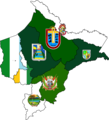 Flag map of provinces of Loreto.png