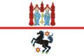 Flag of Zheleznodorozhny (Kaliningrad oblast) (2009).png
